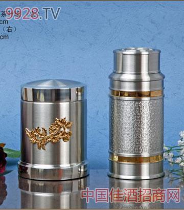 TL203G镀金镶花茶叶罐