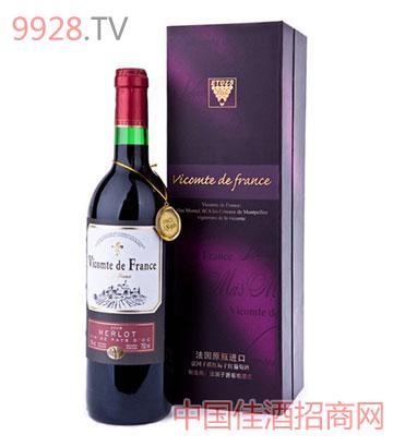 法国子爵红标干红葡萄酒