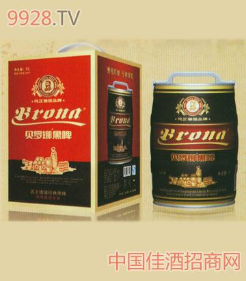 5L桶装贝罗娜黑啤酒