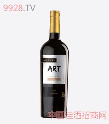 阿雷斯帝艺术系列珍藏级卡曼娜干红葡萄酒