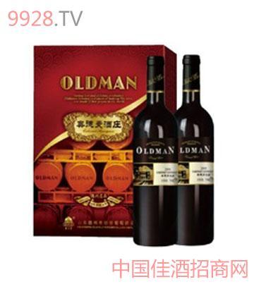 奥德曼酒庄系列2008双支大礼盒干红葡萄酒
