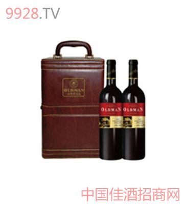 2003干红葡萄酒双支酒具皮盒大礼盒