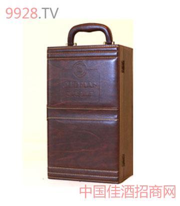 奥德曼酒庄2003双支酒具皮盒