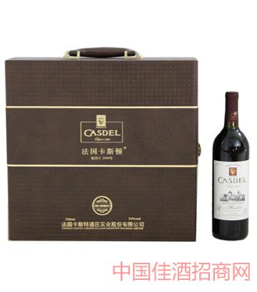 A004激凸皮箱4瓶装葡萄酒