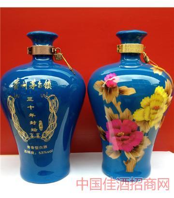 三十年(梅瓶兰色8斤)酒