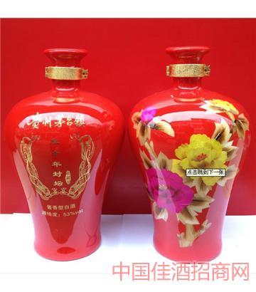 三十年(梅瓶红色8斤)酒