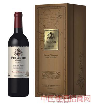 法国原装进口法蓝德船长赤霞珠干红葡萄酒750ML