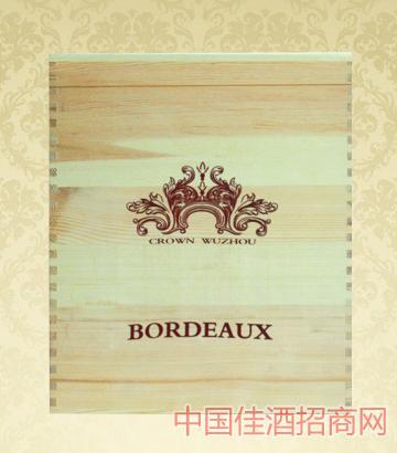 6只�b木盒葡萄酒