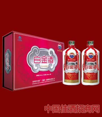 茅�_白金酒35度�Y盒