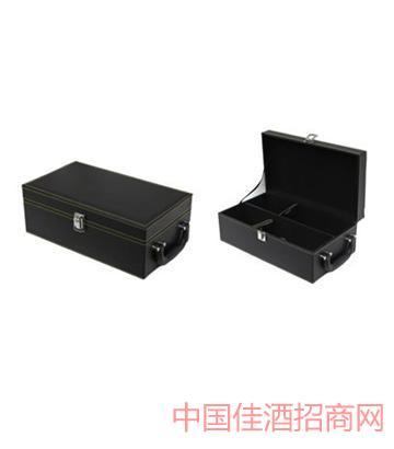 北京黑色�p支�o酒具皮盒