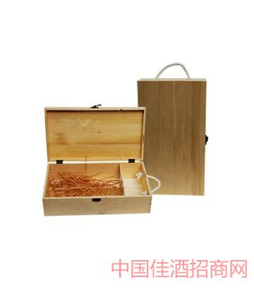 北京松木�p只�b酒盒