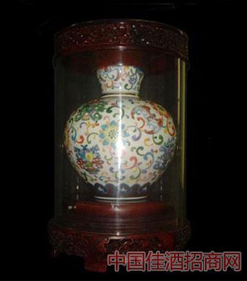 国瓷珍藏-彩绘微雕吉祥八宝瓷器酒