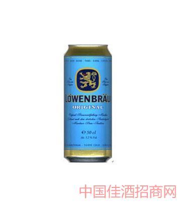 卢温堡狮牌小麦黄啤酒听装