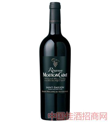 罗思柴尔德男爵木桐嘉棣珍藏圣埃米利永干红葡萄酒