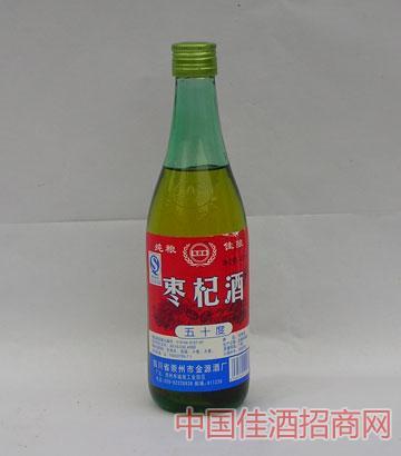 枣杞酒(39度,470ml,1&年61473;12,玻璃瓶)