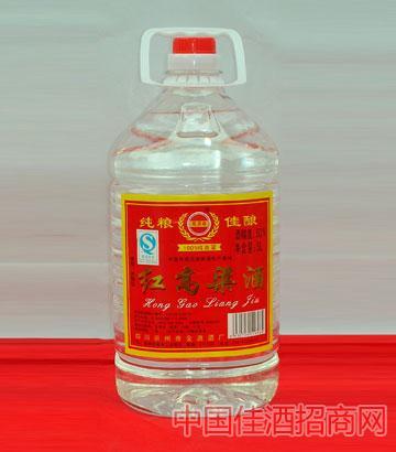 红高粱(50度,5L,1&年61473;4,塑料桶)酒