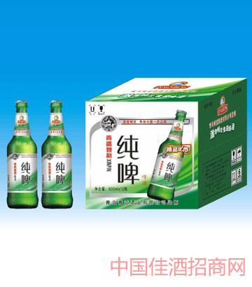 500毫升青岛特制纯啤啤酒