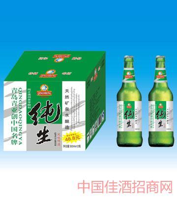 500毫升青岛风味纯生啤酒