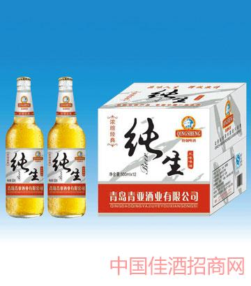 500毫升青岛浓缩经典纯生啤酒