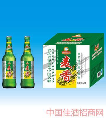 500毫升青岛新版麦香啤酒