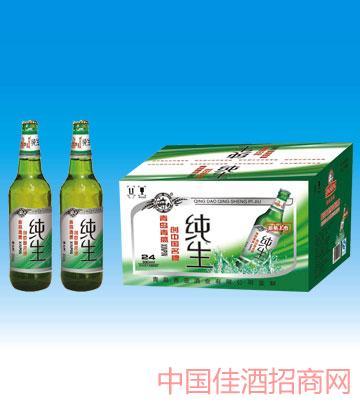 330ml青岛竹叶绿纯生啤酒