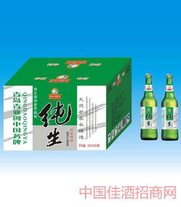 330毫升青岛风味纯生啤酒