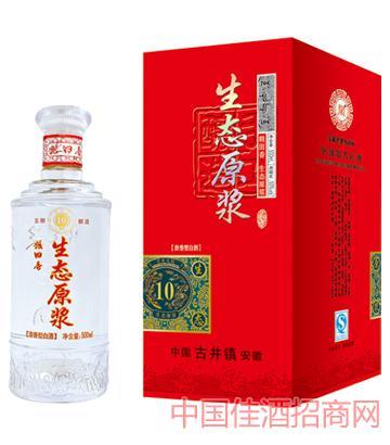 38°/52°粮田香酒生态原浆酒10年