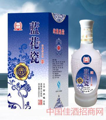 38°/52°蓝花瓷450ml酒