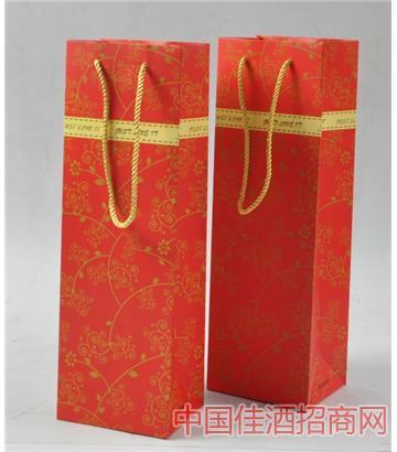 北京高�n彩色��|�t酒袋