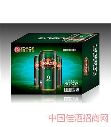 美国索罗斯12瓶装纸箱罐装特纯啤酒