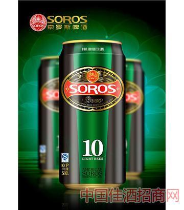 美国索罗斯500ML罐装啤酒
