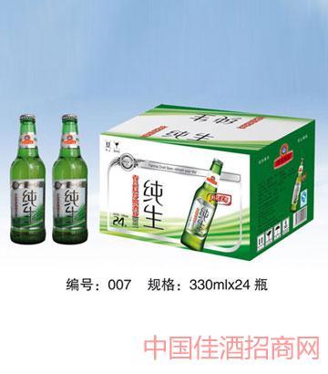 007纯生啤酒330mlx24
