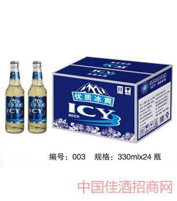 003优质冰爽啤酒330mlx24