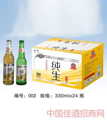 002纯生啤酒330mlx24