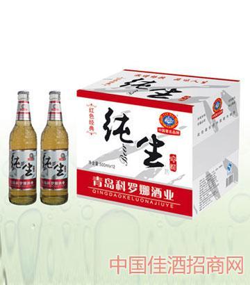 红色经典纯生啤酒500mlx12