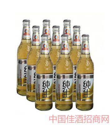 金色经典纯生啤酒500mlx9塑包