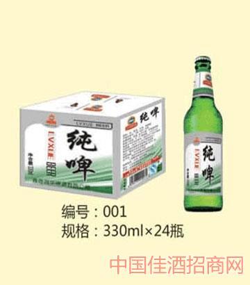 鲁雪啤酒24瓶装纯生