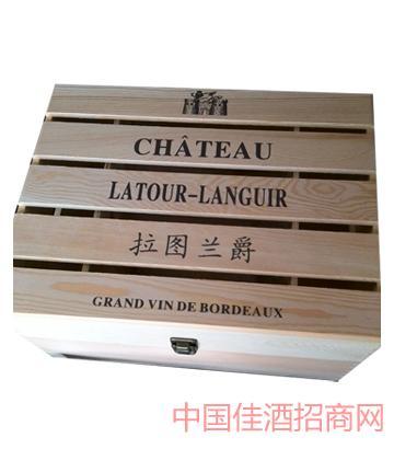 六支木盒葡萄酒
