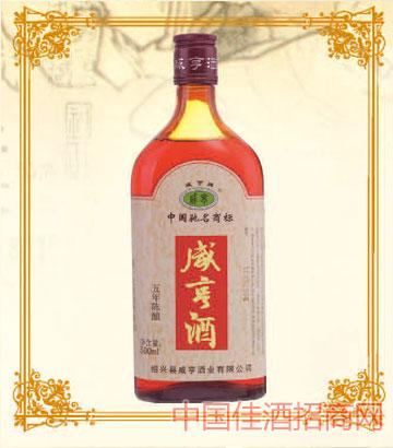 500mlx12咸亨黄酒五年陈酿