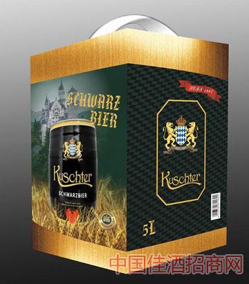库斯特原浆特酿小麦黑啤酒