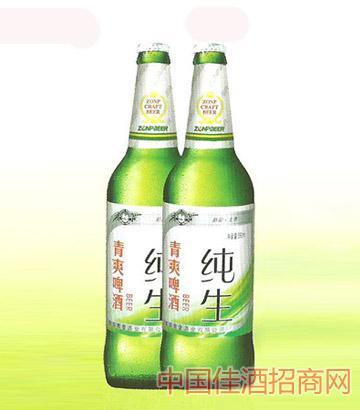 青爽啤酒纯生瓶装
