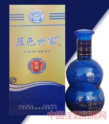 蓝色世家酒46度250ML绵柔