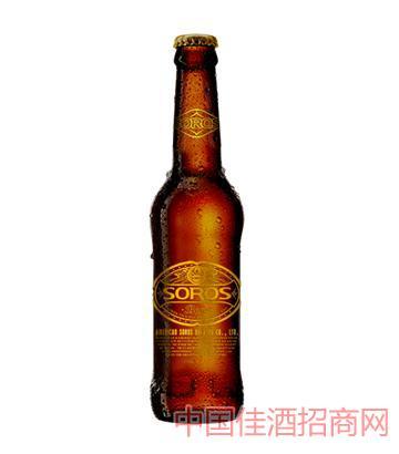 SOROS索罗斯玻璃瓶330ML*24啤酒