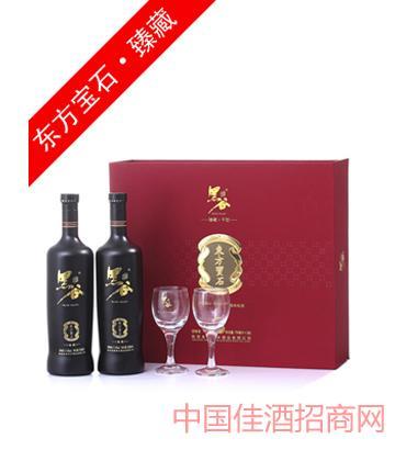 11度宝石双支礼盒黑谷酒