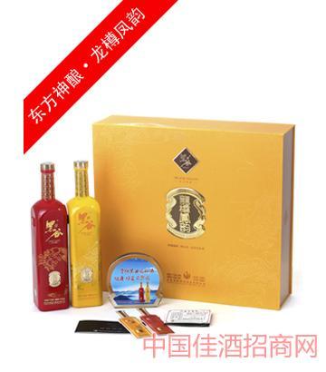 神酿龙樽凤韵双支礼盒黑谷酒