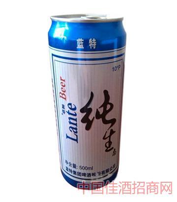 蓝特纯生易拉罐啤酒