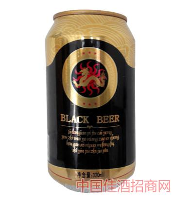 曼哈顿黑啤罐啤酒