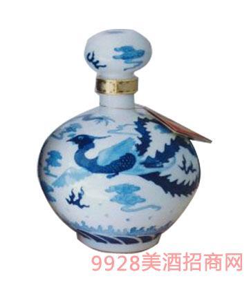 17号五斤青花浮雕坛酒