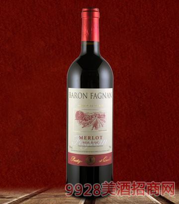 男爵美乐干红葡萄酒