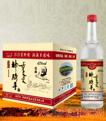 SQS052草原神骑手酒(绵柔)500mlx12清香型